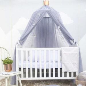 Sänghimmel Ecarla grå