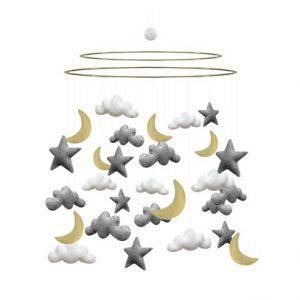 Mobil moln/stjärnor/månar STOR