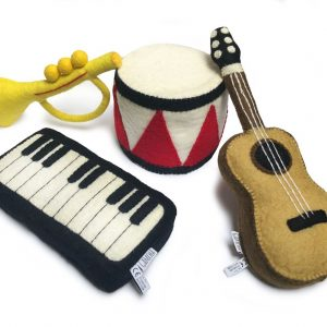 Musikinstrument i ull 4-pack