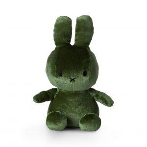 Miffy kanin velvet grön 23 cm