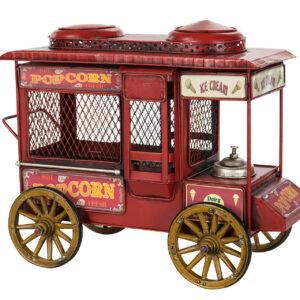 Sparbössa popcornvagn röd
