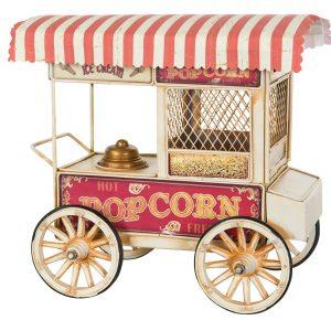 Sparbössa popcornvagn vit