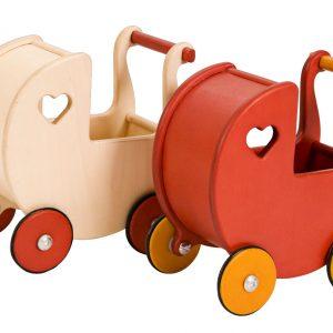 Dockvagn mini träfärgad