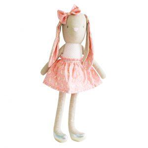 Kanin rosa/silver 55 cm